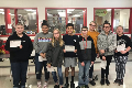 students recognized for displaying optimism