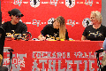 student signing national letter of intent