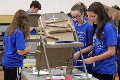 students taking part in engineering day activity