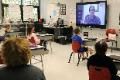 veteran speaking to students via zoom