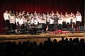 students singing in chorus