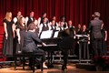 student choir singing at concert