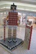 warrior made out of cans
