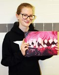 Art student selected as National Gold Medalist image
