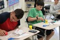 students learn about cross sections of 3 D figures using Play Doh