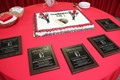 congratulations cake and plaque