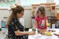 student and teacher at port dickinson elementary kindergarten orientation