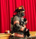 firefighter wearing gear