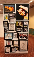 art work on display at conference