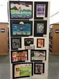 student artwork in art show