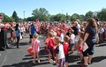 wide shot of flag day event