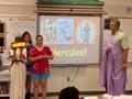students giving presentation