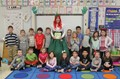 port dickinson students with the leprechaun lady