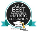 2019 best communities for music education brought to you by the NAMM Foundation logo