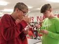 students taste testing food