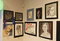 artwork on display at Emerging Artists Exhibit