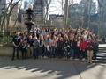 students and chaperones in new york city
