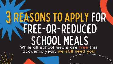 Free/Reduced Meal Applications for the 2021-2022 School Year