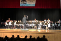 middle school band performing in spring concert