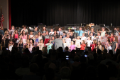 students singing in spring concert