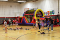 wide shot of indoor activities for carnival