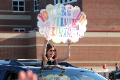 student in parade