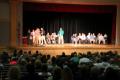 wide shot of c v high school academic awards ceremony
