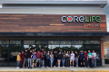 students in front of core life eatery