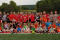 people at youth soccer clinic