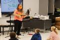 teacher playing instrument