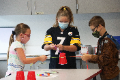 students participating in STEAM activity