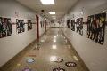 artwork hanging in hallway