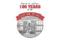 p d school building 100 years celebration graphic