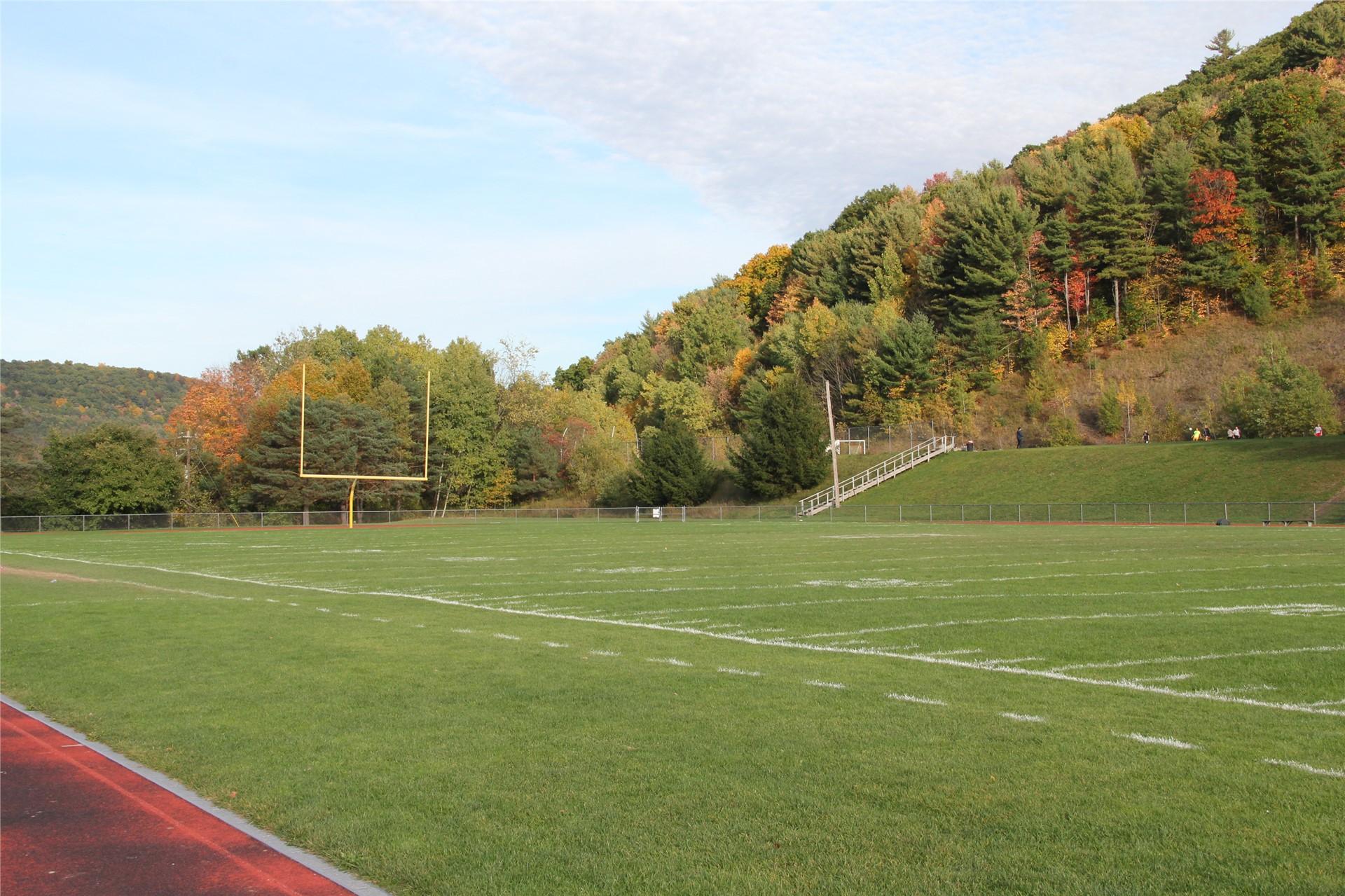 far shot of football field