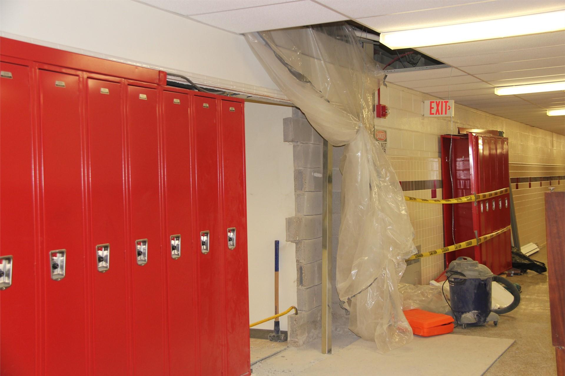 construction in hallway