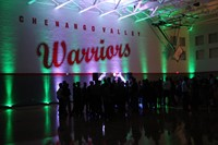 inside of high school gym for homecoming dance