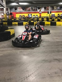 students go go carting