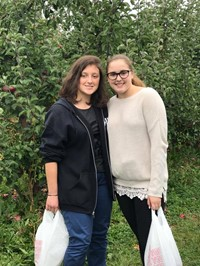 students apple picking