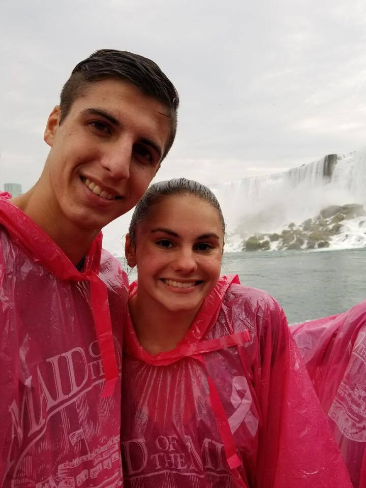 two students at niagra falls maid of the mist