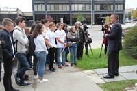 students meet binghamton mayor rich david