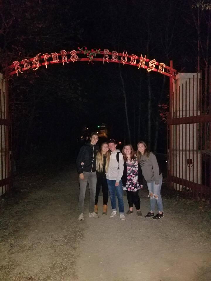 students outside of reapers revenge gate