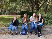students enjoy sno cones