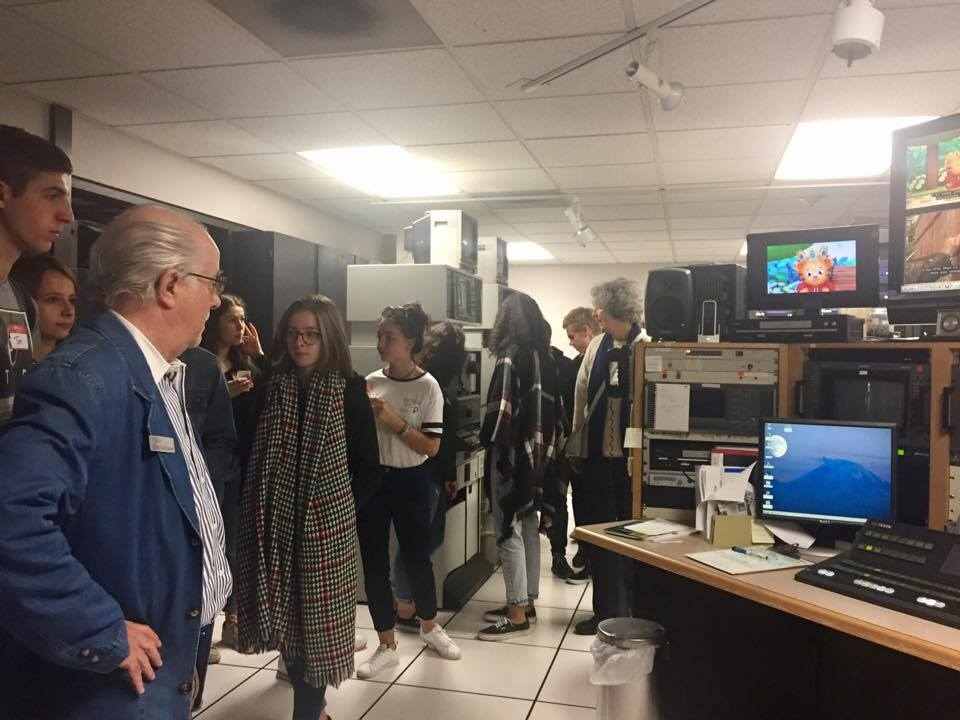 students inside control room