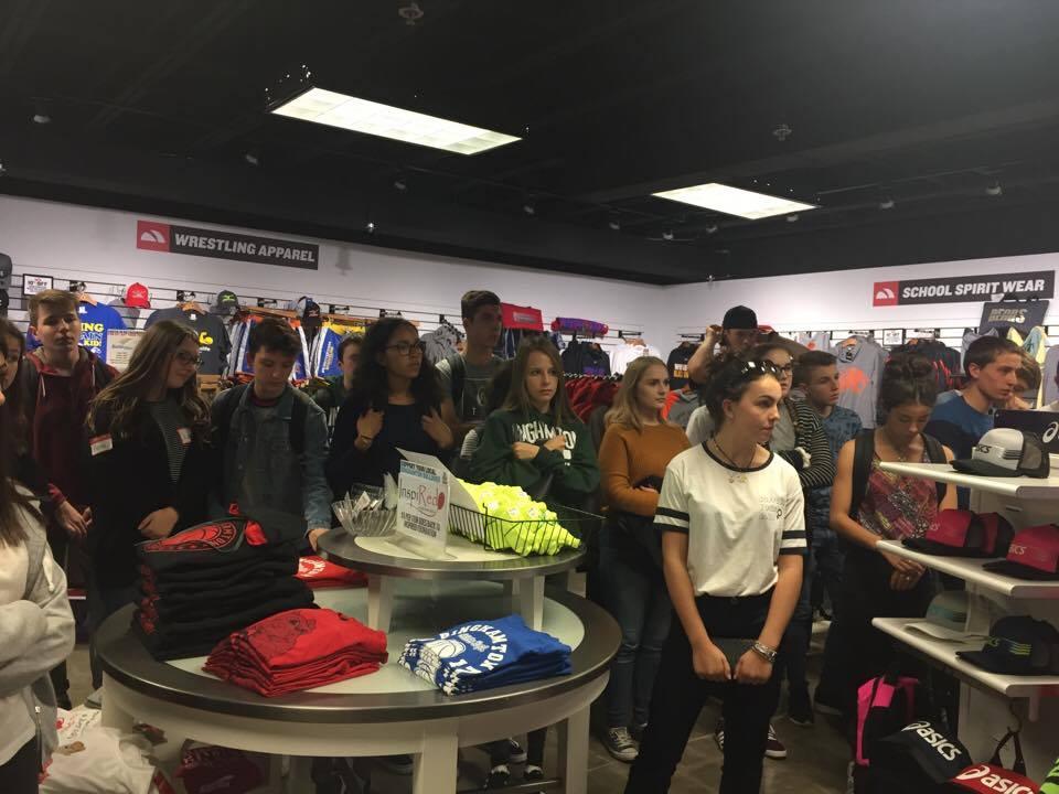 students inside of a giftshop