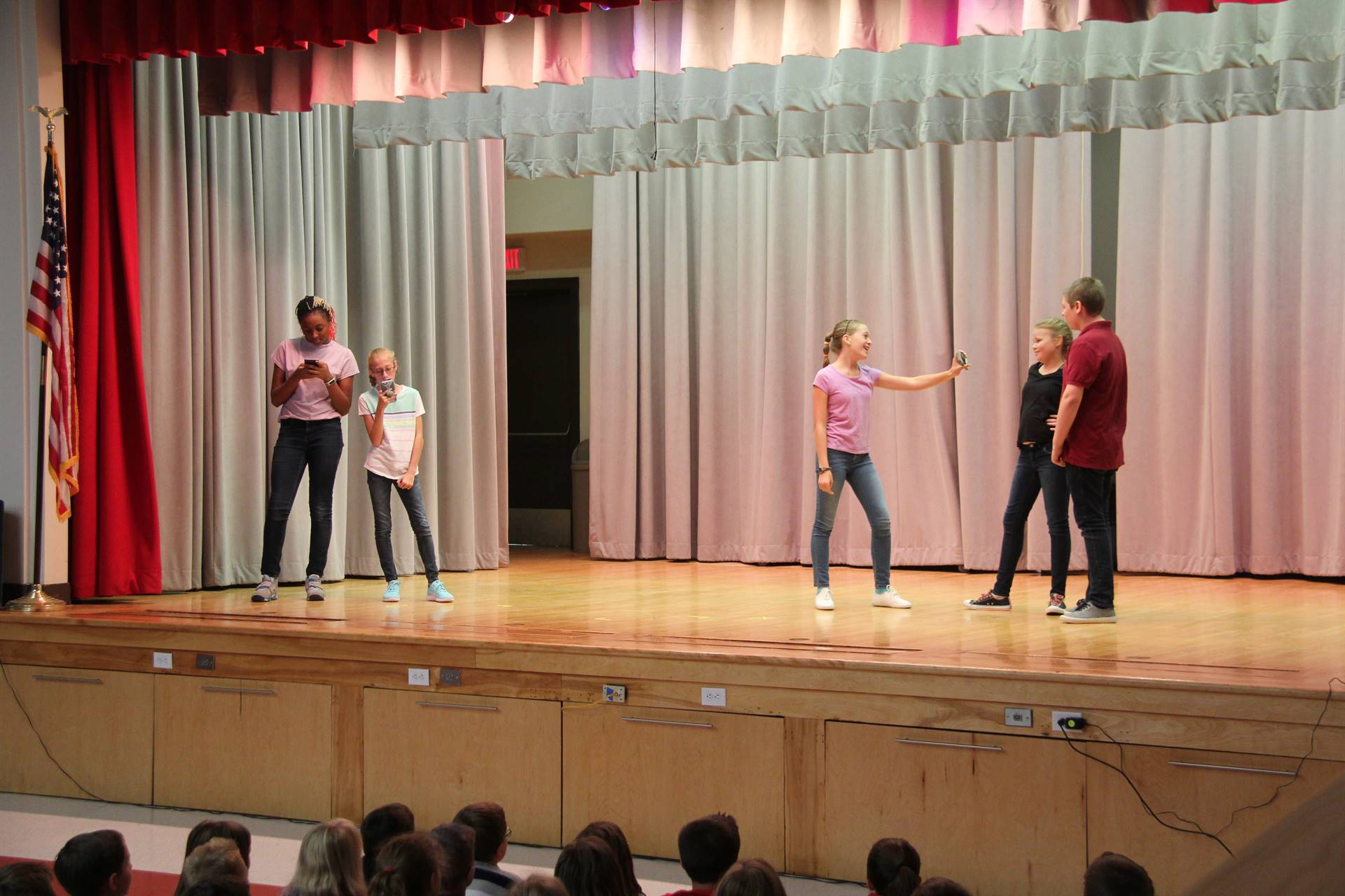 middle school drama club presents play on stage