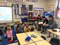 students read to port dickinson elementary students