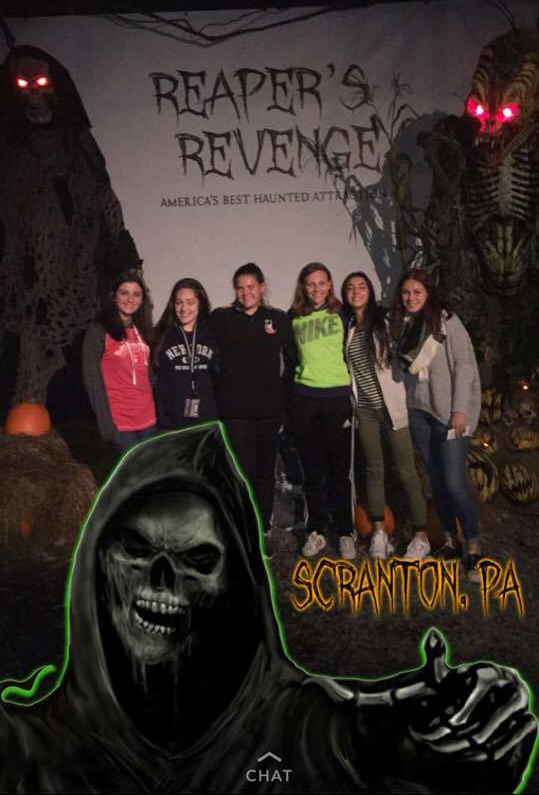 students outside of repears revenge haunted attraction