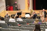 close up quintet performance in the auditorium