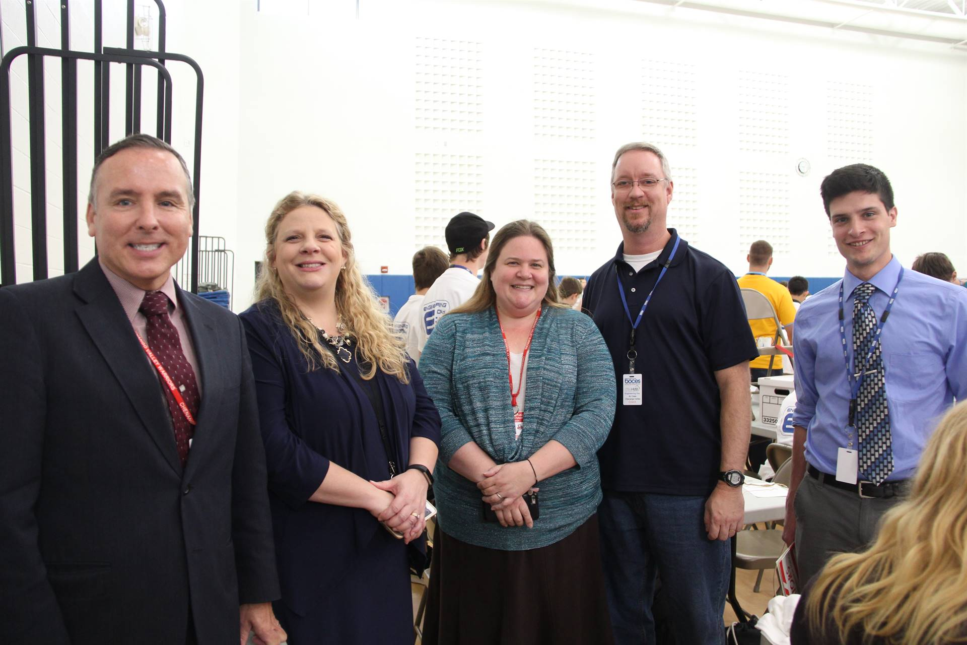 c v administrators and teachers at engineering day
