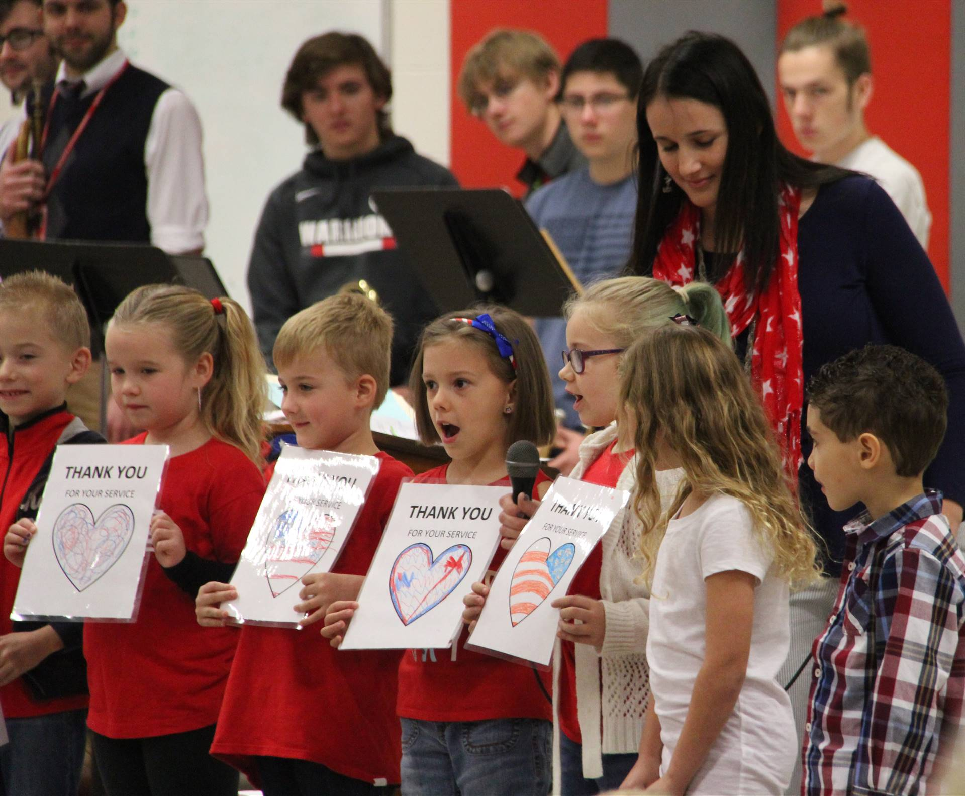 additional students reading patriotic poem